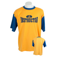 Instructor Logo Tee - Gold/Navy