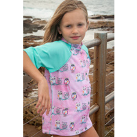 Kids Rash Vest - Owls/Fiji