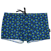 Mens Cracker Trunk - Blue Triangles