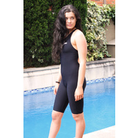 Womens Microline Racing Leg Suit - Black