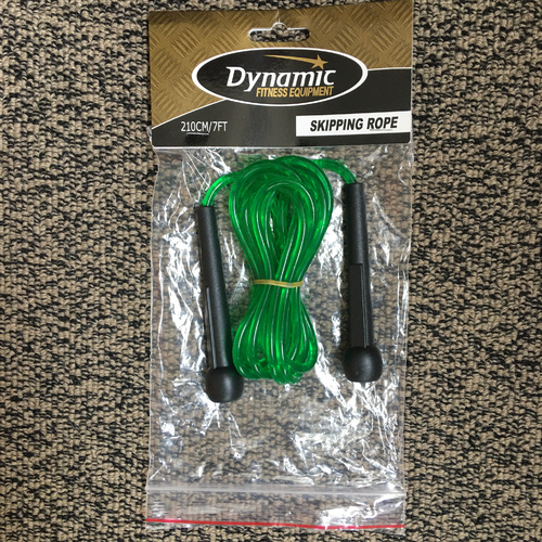 Skipping Rope - 7ft/210cm Plastic Green  DSF2SKIP7P